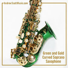 Curved Soprano Saxophone, Green - Masterpiece