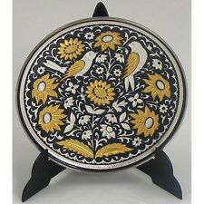 Damascene Gold & Silver Round Small Decorative Plate by Midas of Toledo Spain