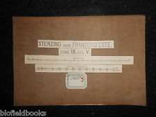 Vintage Map c1880 of Sterzing & Franzensfeste (Austria/Italy?) Zone 18, Col V
