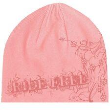 Pink Ride Free Filigree Cherries Ladies Biker Beanie Stocking Cap Skully Shorty
