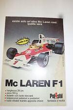 ADVERTISING PUBBLICITA' Mc LAREN F1 POLISTIL scala 1:16   - - 1976