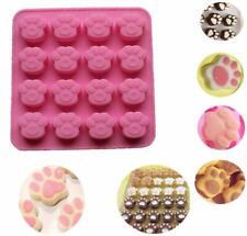 16 Cavity Dog Paw Shaped Chocolate Mould Silicone Baking Tray Kids Animal Molds