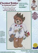 Gloria Cherished Teddies Christmas 16ct Cross Stitch Kit Janlynn 139-106  New
