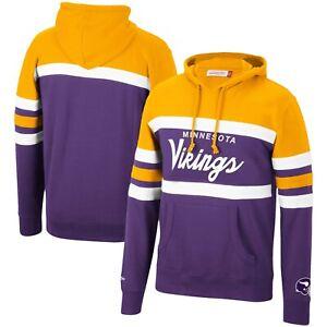 Minnesota Vikings Mitchell & Ness COACHES THROWBACK Pullover Hoodie- Purple