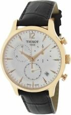 Tissot Men's T063.617.36.037.00 Brown Leather Swiss Quartz Watch with Beige Dial