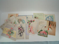 Vintage unused 14 greeting card lot Anniversary, congratulations paper ephemera