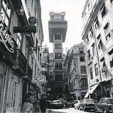 LISBONNE c. 1950 -  L'Ascenseur  Voitures  Commerces  Portugal  Div 7159