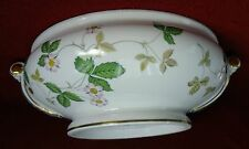 WEDGWOOD china WILD STRAWBERRY (Bone) BASE to the Covered Vegetable Serving Bowl