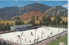 Sun Valley ID Olympic Size Skating Rink Northern Pacific Railroad Postcard c1950