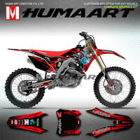 MX Racing Decals Graphics Kit Wraps for CRF250R CRF450R 2013 2014 2015 2016 2017