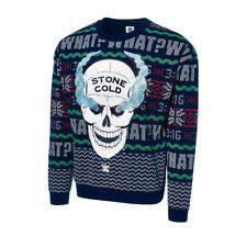 NEW WWE Ugly Holiday Christmas Light Up Sweatshirt Stone Cold Steve Austin Small