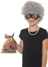 Childrens Gangsta Granny Kit De Accesorios Con Peluca