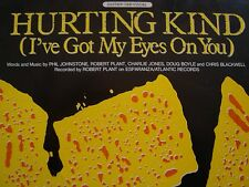 HURTING KIND(I'VE GOT MY EYES ON YOU)-ROBERT PLANT GUITAR-TAB SHEET MUSIC-RARE!!