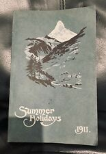 Thomas Cook and Son Summer Holidays Tours Programme, 1911, antique, vintage