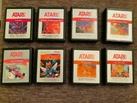 ATARI 2600  8 silver label  CARTRIDGE LOT #3