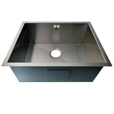 SINK KITCHEN STAINLESS STEEL SINGLE LARGE BOWL UNDER MOUNT THREE SIZES
