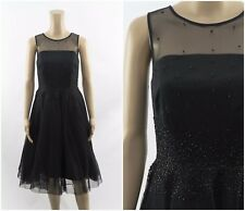 F&F Black Tutu Mesh Embellished Occasion Prom Dress
