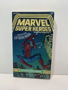 TSR Marvel Super Heroes #7 The Amazing Spider-man As The World Burns Peter David