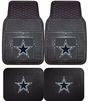 Dallas Cowboys Heavy Duty NFL Floor Mats 2 & 4 pc Sets for Cars Trucks & SUV's