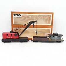 Vintage Tyco Operating Crane Car with Boom Tender 932:800 Box Ho Scale