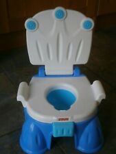 Fisher price potty training toilet. 3 in 1 potty, toilet seat and step blue