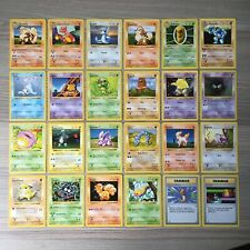 24 Shadowless Base Set Pokemon Cards 1999 Near Complete Set Joblot Bundle