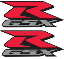 "Suzuki GSXR Decals 600 750 1000 3"" Pair Full Color Die Cut Stickers Motorcycle"