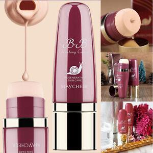 40ML MAYCHEER Cosmetic Snail nourish BB Cream Brighten Skin Liquid Foundation SO