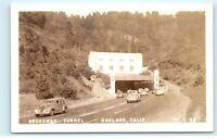 Broadway Tunnel Oakland CA California RPPC Vintage Real Photo Postcard E28