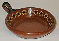 "Tlaquepaque Mexican Terracotta Fry Pan de Barro Redware Clay Skillet 4 3/4"""