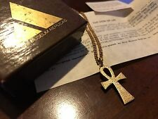 Vintage Egyptian Revival Gold Ankh Necklace - Sign of Life Amulet - Alva Museum