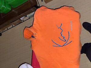 Vintage 90s Karl Kani Jeans Stitched Orange Sweatshirt Sz L