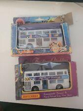 Matchbox K15 Superkings Buses Silver Jubilee & 1981 Royal Wedding Boxed