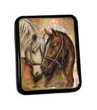 Russian Lacquer Box HORSES #4137
