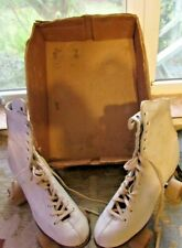 Fun Vintage 1950'S Womens Size 8 Roller Skates With Original Box