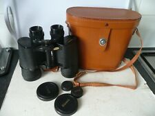 BINOCULARS 10 X 50 'BROWNI' MADE JAPAN. FAB CONDITION. WITH LEATHER CASE.
