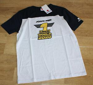 Suzuki Moto GP World Champion 2020 Joan Mir T-Shirt Motor Sport weiß/blau Gr.2XL