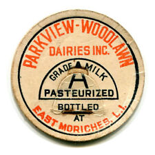 Parkview Woodlawn Dairy East Moriches Long Island NY Milk Bottle Cap New York