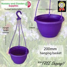 200mm Hanging Basket Purple - PK of 4 x Plant Pot & hanger
