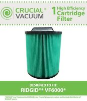 Replacement Ridgid  6 - 20 Gallon Wet & Dry Filter Cartridge Part # VF6000