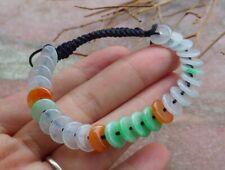 Certified 3 Color Natural A JADE Jadeite Beads Circle Bangle Bracelet 手链 500102