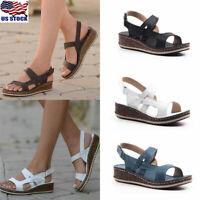 Women Vintage Gladiator Wedge Sandals Summer Casual Open Toe Platform Shoes Size