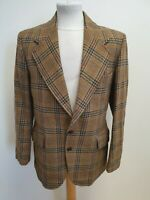 E920 MENS HODGES GREY BROWN RED CHECK WOOL BLAZER JACKET UK M EU 48
