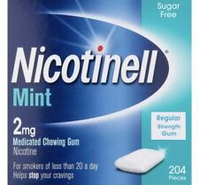 NICOTINELL SUGAR FREE REGULAR STRENGTH GUM 2mg 204 PIECES MINT &FRUIT FLAVOUR