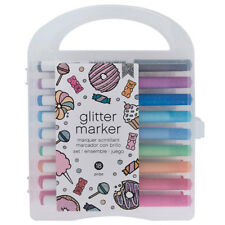 American Crafts Glitter Markers Value Pack - Fast-Drying Ink - Pack of 18
