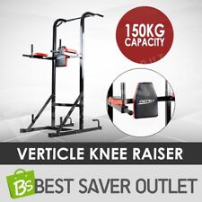 Knee Raise Power Tower Chin Up Bar Push Pull Dip Station Exercise Home Gym