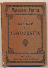 """Dott. Luigi Gioppi libro """"Manuale pratico di fotografia"""" 1897  L053"""