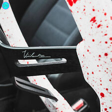 "VIILANTE 2"" DISH 6-HOLE STEERING WHEEL *RED BLOOD SPLATTER* BLACK SPOKE - 350Z"