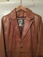 Tomcat Leather ladies Tan Leather coat XL