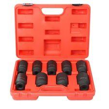"9pc Deep Impact Socket Set 1/2"" Drive Metric Axle Hub Nut Socket 29-38mm US SHIP"